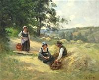 le déjeuner des paysans by eugène labitte