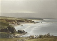 coastal landscape by arthur h. twells