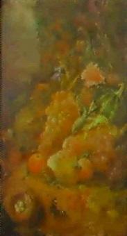 bodegon de flores y frutos by eugenio lafuente
