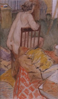 female nude by harry bainbridge mccarter