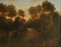 river landscape by william short