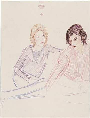 kirsty and roe by elizabeth peyton