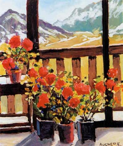 geranium à la terrasse by henri auchère