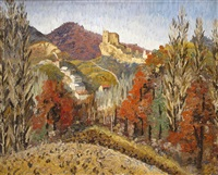 landscape in spain by sir cedric lockwood morris