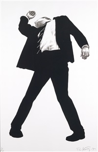 ohne titel (from men in the cities) by robert longo