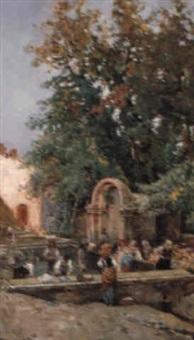 washerwomen at san beneto del tronto by attilio simonetti