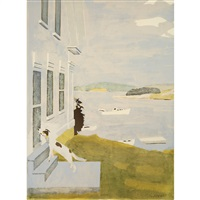 the dog at the door by fairfield porter