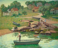 new england beach, lanesville, cape ann, massachusetts by emma fordyce macrae