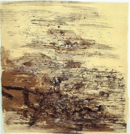 lithograph by zao wou ki