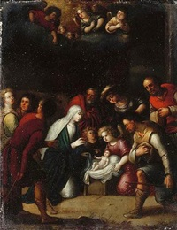 the adoration of the shepherds by pieter lisaert
