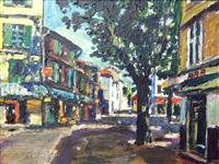 street scene with bar by gerhard batha