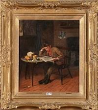 jeune garçon à la lecture by george hull