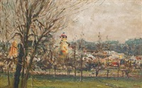 bad weather, easter fair, hampstead by kenneth wynn