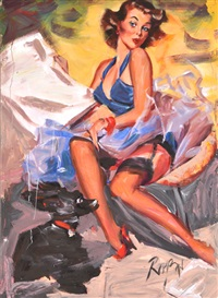 pin-up girl by dennis ropar