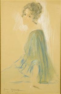 la robe bleue by georges (ferdinand) lemmers
