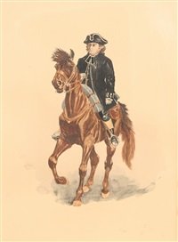 the reverend samuel seabury, m.a. on horseback by charles henry miller