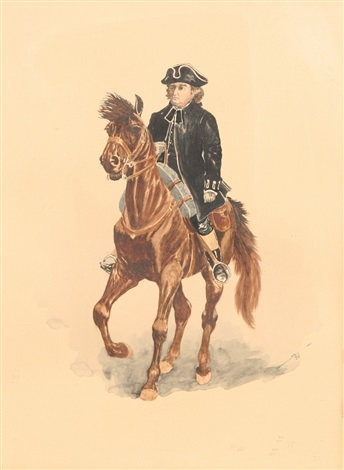 the reverend samuel seabury ma on horseback by charles henry miller