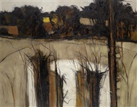 landscape with trees by john scorror o'connor