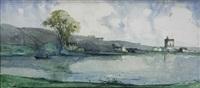 paysage à la tour by marcel mettenhoven