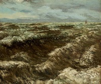 etretat by gustave courbet