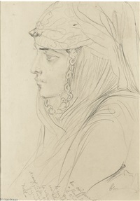 profile portrait of an arab woman by théodore chassériau