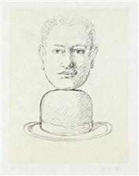 homme au chapeau melon (from le lien de paille) by rené magritte