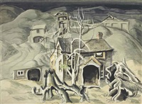 deserted miner's home by charles ephraim burchfield