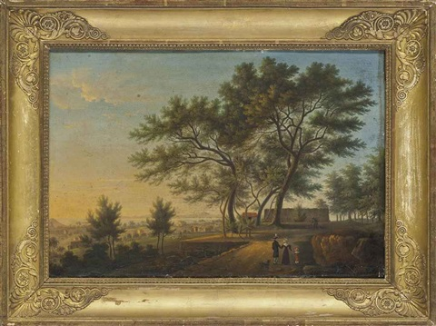 huntsmen with hounds in a wooded landscape by john nost sartorius