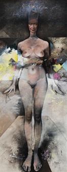 standing nude by jiri brazda