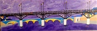 le pont des arts (from les ponts de paris) by anne aknin