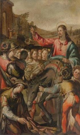 christs entry into jerusalem by andrea boscoli
