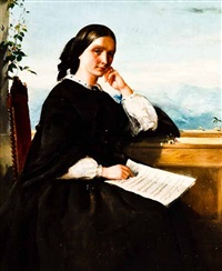 the portrait of clara schumann by robert inerarity herdman