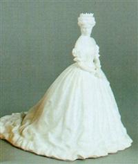 kaiserin elisabeth von österreich im ungarischen krönungskostüm by alfred hofmann