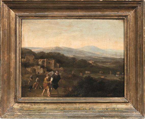 paesaggio con tobiolo e langelo by cornelis van poelenburgh