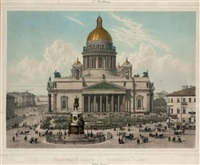 cathédrale d'isaac, st. petersbourg (+ 2 others; 3 works) by josef iosefovich charlemagne