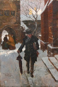 a walk in the snow by wilhelm roegge the younger