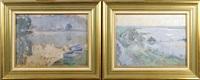 bord de rivière (pair) by jules merckaert