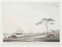 view taken of the esplanade, calcutta by thomas daniell