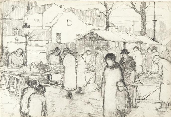 le marché by paul delvaux