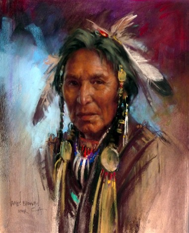 sarcee chief by harley brown