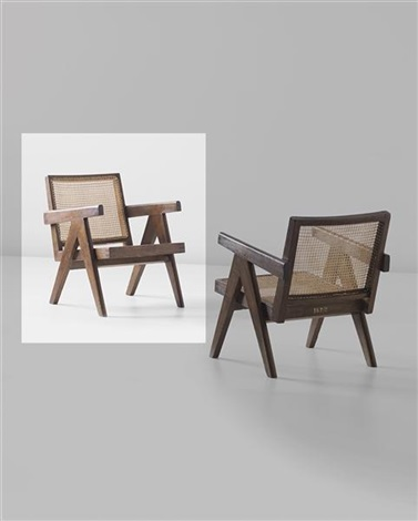 easy armchair, model no. pj-si-29-a, designed for administrative buildings, chandigarh by pierre jeanneret