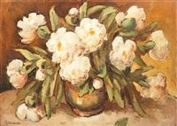 white peonies by traian cornescu