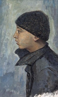 head of a jewish boy by yury pen