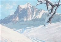 neige à grindelwald by charles henry contencin