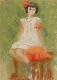 bambina seduta by francesco fanelli