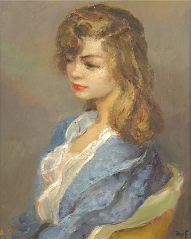 portrait de jeune femme by marcel dyf