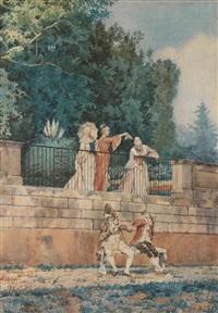 figure in un giardino by pietro gabrini