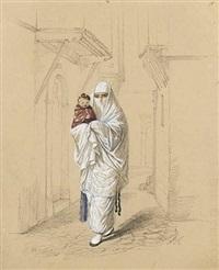 jeune orientale et son enfant by emmanuel joseph lauret