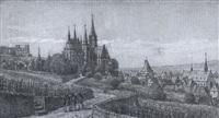 oppenheim. blick über die weinberge auf den ort by peter becker