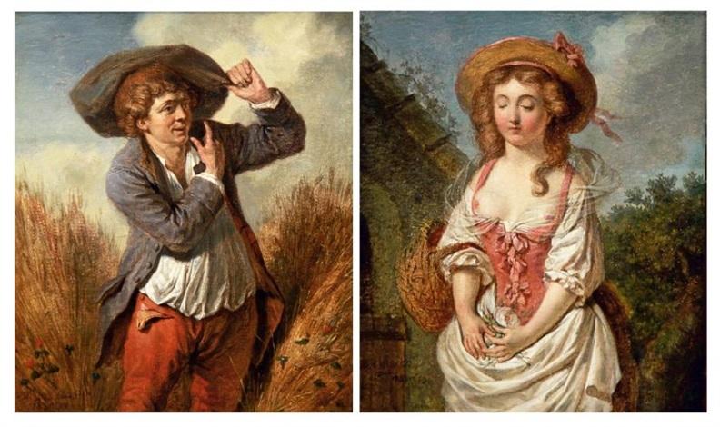 le galant paysan la jeune paysanne pair by pierre alexandre wille